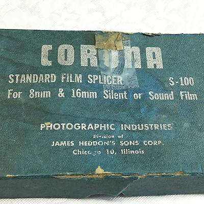 Corona Standard Film Splicer S-100  for 8 and 16mm or Sound Film