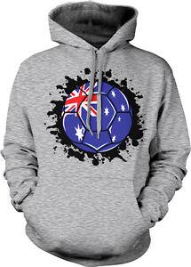 Australia Symbol Australian Distressed Country Born From AUS Hoodie Sweatshirt