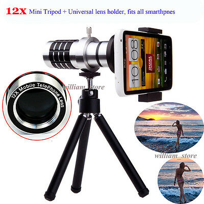 12x Zoom Magnifier Telescope Camera Lens for Nokia Sony Samsung HTC LG iPhone 6