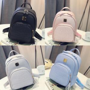 Women-Girl-Backpack-Travel-PU-Leather-Handbag-Rucksack-Shoulder-School-Bag-Lot
