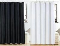 Diamante Shower Curtain 100% Polyester With 12 Hooks Included In Black & White