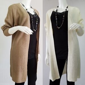 Open-Front-Knit-Cardigan-Long-Sweater-Knitting-Coat-Jacket-Knitted-Ribbed
