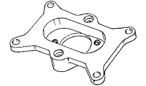 Redline adaptor plate 10-231 Holley 350 to Ford Falcon and Cortina 1960-1975