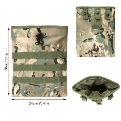 Tactical Magazine Dump Drop Pouch Utility Gun Ammo Bag Molle Magazine Pouch