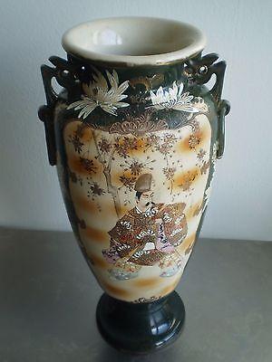Groß Vase Steinzeug Japan Emaille Xix° S Keramik Deko Asien Orient 46cm