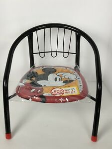 Mickey Mouse Pipe Back Chair For Children Padded Seat