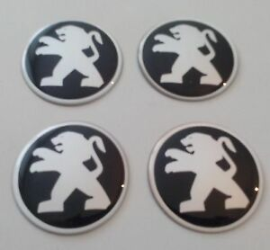 4 Pegeout Aufkleber 55mm Schwarz Embleme Logo Nabendeckel 116 Pe Ebay