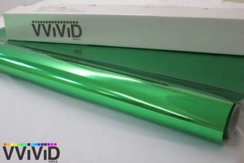 Vvivid 5ft x 1ft 3Mil Green Supercast Chrome Vinyl Car Wrapping Decal