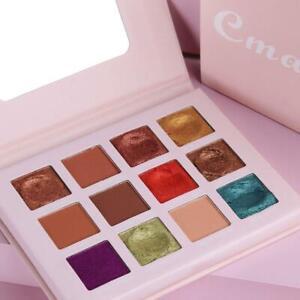 12Colors-Matte-Pearlescent-Glitter-Lidschatten-Pigment-Shimmer-Palette-Make-E8X8
