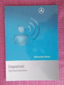 (2008) Mercedes-benz Linguatronic Handbook-manuel De L'utilisateur (acq 5255)-afficher Le Titre D'origine Grand Assortiment