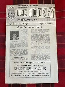 Sports Stadium Brighton Ice Hockey Programme 05/04/1964