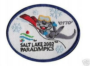 SALT LAKE CITY 2002 PARALYMPIC MASCOTS OTTO OTTER Iron-on PATCH