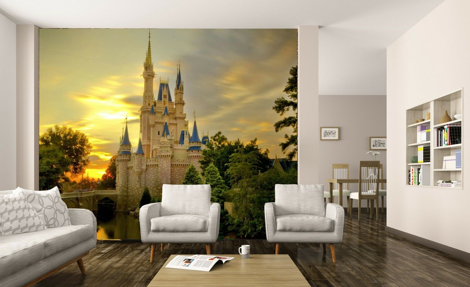Details Sur Disney Castle Papier Peint Photo Enfants Fille Chambre Poster A Faire Soi Meme Decoration Afficher Le Titre D Origine