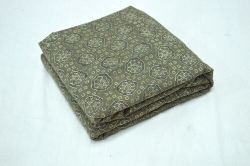 Indian Handmade Cotton Ajrakh Hand Block Fabric Sanganeri Print Natural Dyes