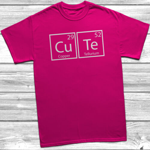 Cute Periodic Table T-Shirt Gift Present Funny Joke Humour Science