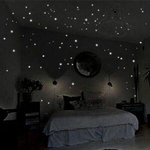 Details About Stickers Wall Glow Dark Round Luminous Dot Star Decor Room Kids Home Stars New