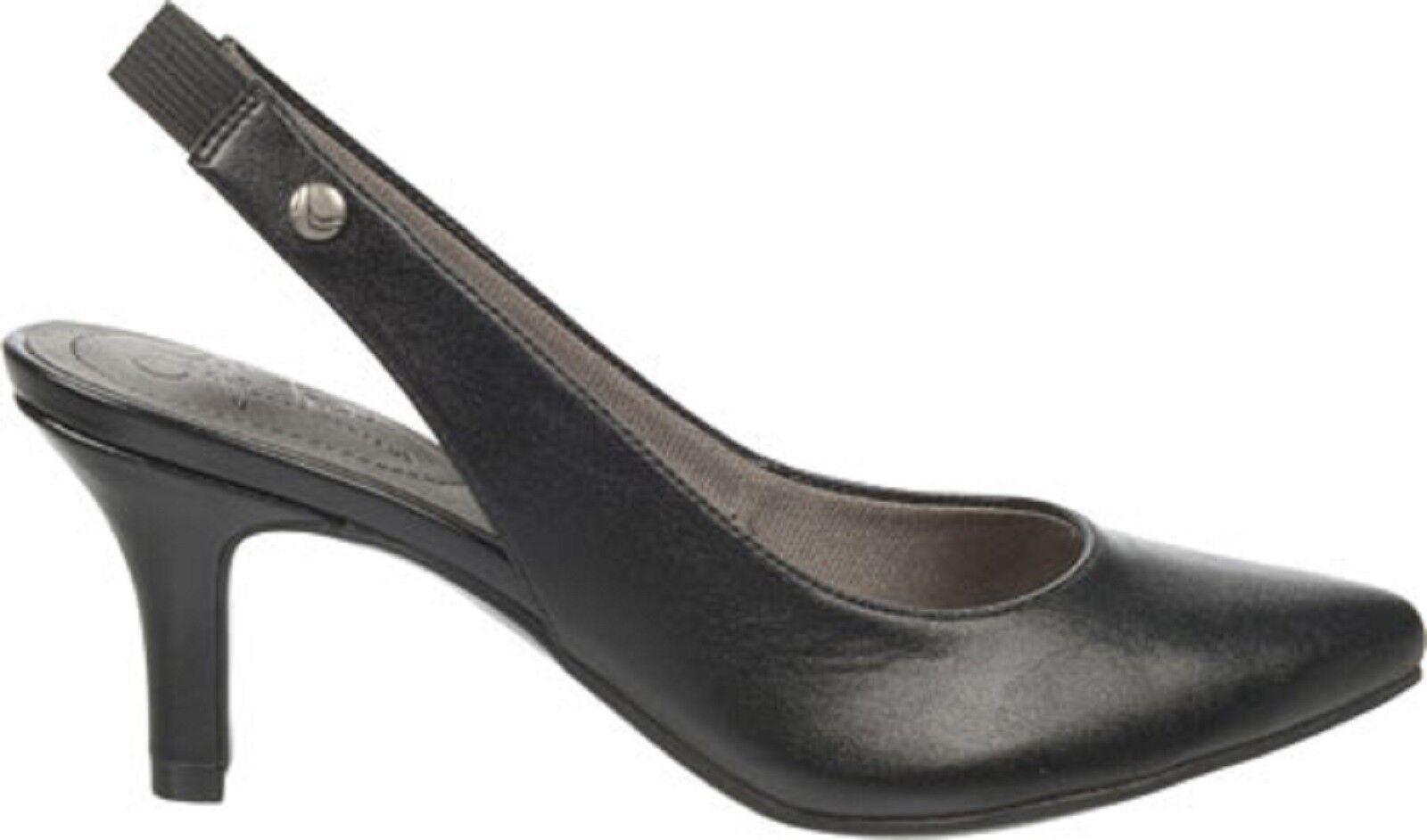 Life Stride Shena Slingback Pump Black Ladies Black Pump Size 6 M NIB 11d7b9