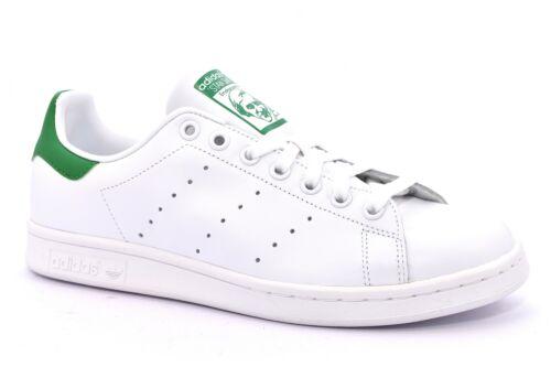new product ff21e acc56 Bianco Uomo Scarpe M20324 Verde Smith Sneaker Stringate Pelle Adidas Lacci  Stan Y76yIgbfv