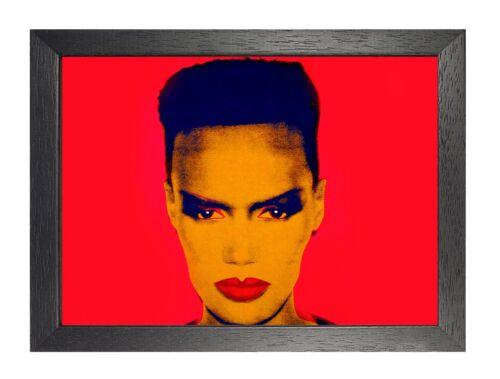 Andy Warhol Grace Jones Red American Artist Expression Celebrity Poster Pop Art