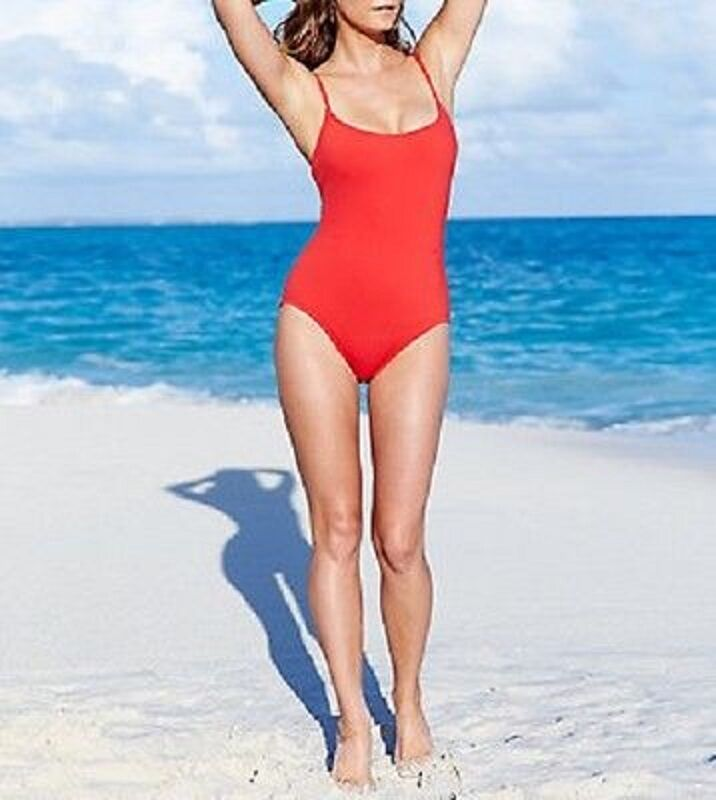 Anne Cole Signature One Piece Sz 14 Cranberry Red Swimsuit Swimwear 15MO001
