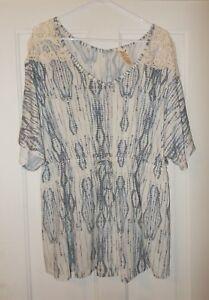 Faded-Glory-Brand-Cinch-Waist-Fashion-Top-Women-039-s-Size-2X-OR-3X