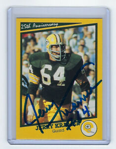 PACKERS-Jerry-Kramer-signed-Super-Bowl-I-Aniv-card-AUTO-AUTOGRAPHED-Green-Bay-SB