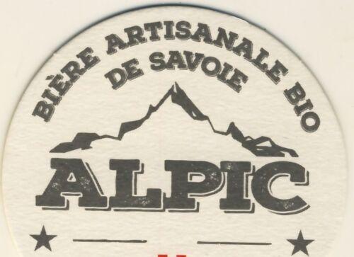 2 sous bocks bierviltje  coaster ALPIC bière artisanale BIO de SAVOIE  RARES