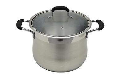 WINNER Stainless Steel Stock Pot w/ Glass Lid Cookware Induction Compatible