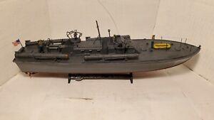 Pro Built U.S Navy PT-109 Torpedo Boat 1/72 Scale Model