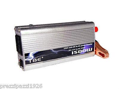 INVERTER per AUTO CAMPER BARCA CAMPEGGIO 1500 W PROFESSIONALE 12V 220V