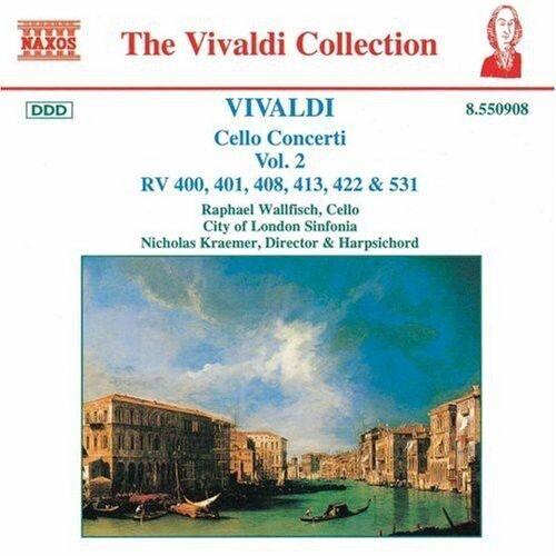 Raphael Wallfisch, A. Vivaldi - Cello Concerti 2 [New CD]