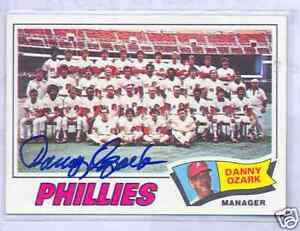 1977 Topps #467 Philadelphia Phillies Team Danny Ozark Baseball Card Verzamelkaarten, ruilkaarten
