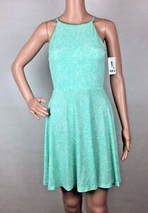 fd47841c31cb Details about Bar III Women s Printed Sleeveless Fit   Flare Dress Mint  Green Size S MONIART