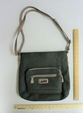 *NEW* Women's Multi Sac  Olive Green  & Tan Trim Hand Bag Tote Ladie's Purse