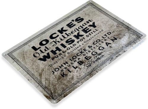TIN SIGN Locke/'s Whiskey Metal Décor Wall Art Moonshine Still Store Bar A475
