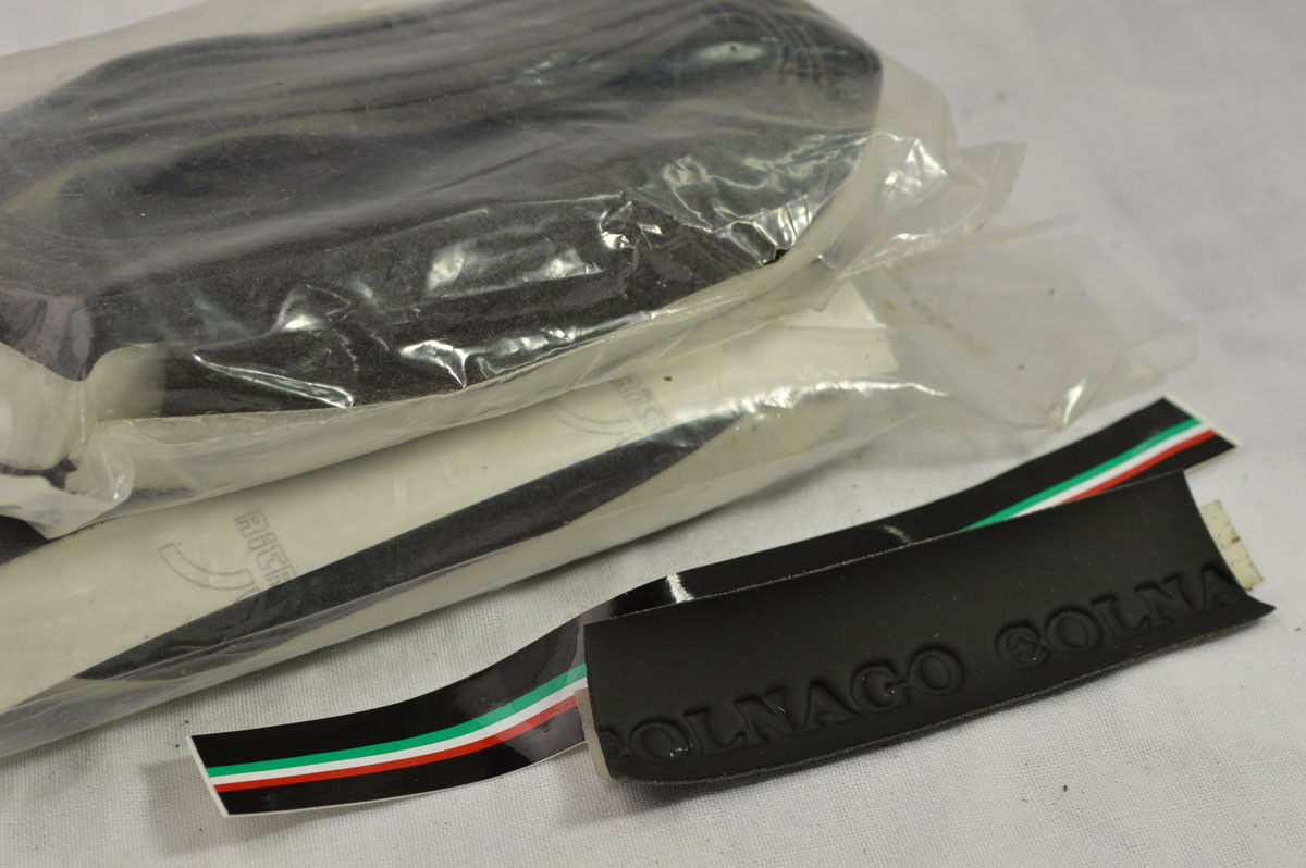 New Tape Colnago negro stickers  CO guidonline grip  vintage bike  venta caliente