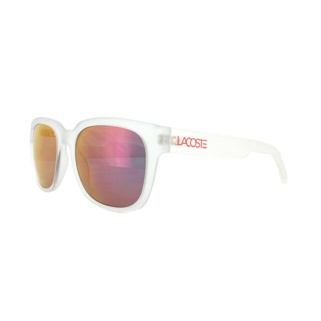 Lacoste Sunglasses l830s 971 Matt Crystal Grey Orange Mirror