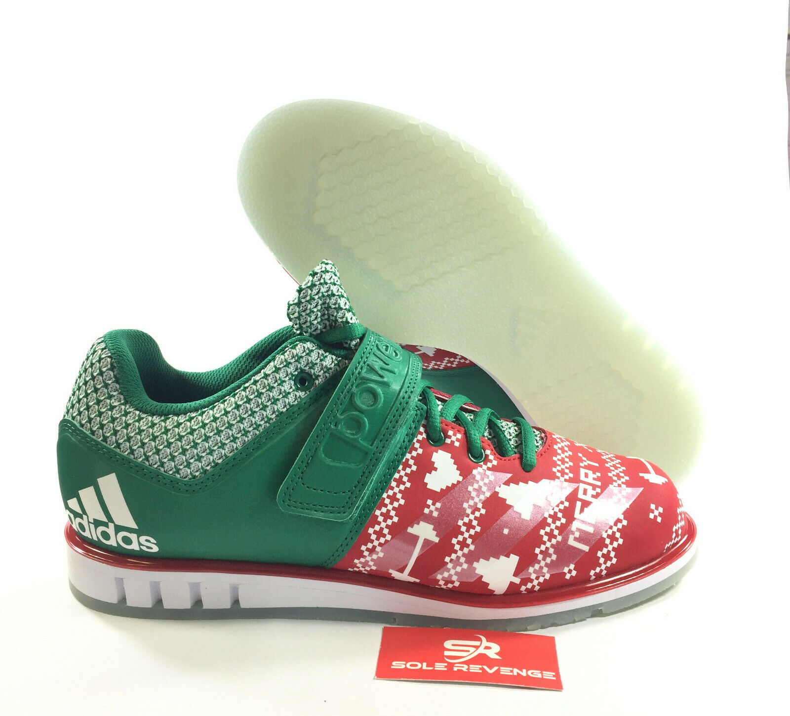 Adidas POWERLIFT 3.1 CG6455 Christmas shoes Scarlet Cloud White Bold Green a1