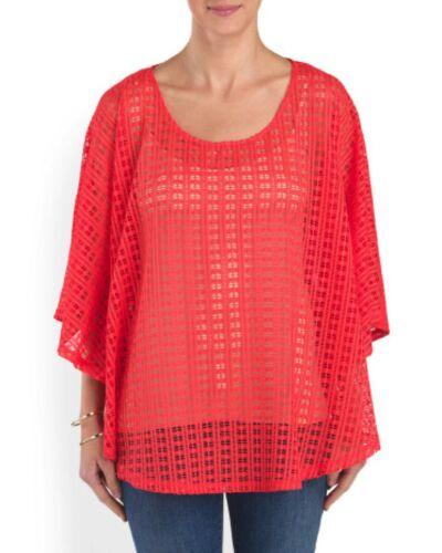 Maille Avec Gauge Crochet Rouge Cerise Neuf Femmes amp; Cable M Étiquettes vwAppq