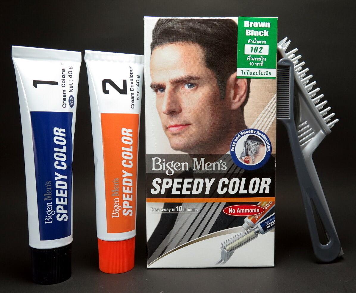 Bigen Men Hair Dye Color Brown Black Speedy 102 Cream No Ammonia