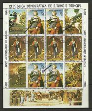 St Sao Tome e Principe - #28 - 1983 - 500° Rafael Painting Sheet - Cpl - Used