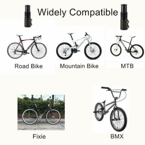 Bike Fork Stem Extender Bicycle Handlebar Riser Adapter MTB Mountain Bike Black