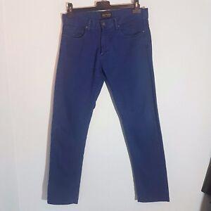 """ZARA Jeans """"Denim Collection"""" Herren Jeans W34  blau Straight Leg Washed Look"""