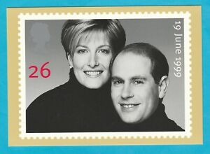 UK-PHQ-Cards-PSM-01-a-b-Set-2-Postcard-Royal-Wedding-Prince-Edward-1999