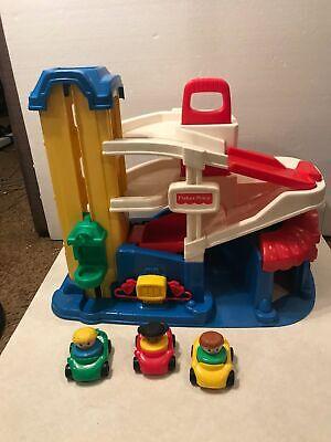Vintage Fisher Price 1995 Little People Parking Garage 2393 V G Condition Ebay