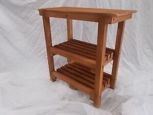 Panca sgabello con ripiani e base di legno 70 cm. lungo ebay