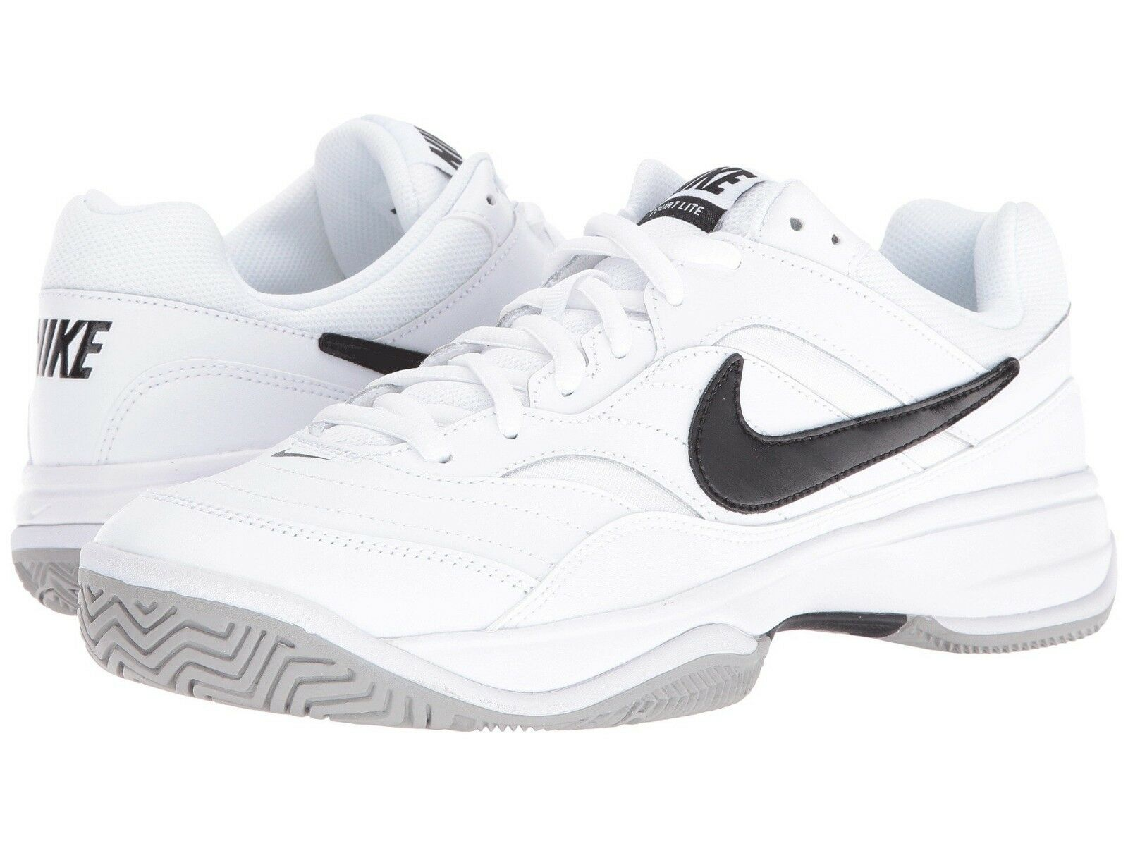 Nike Court Lite blanc  Noir Hommes Tennis Chaussures Sneakers Trainers 8 - 14