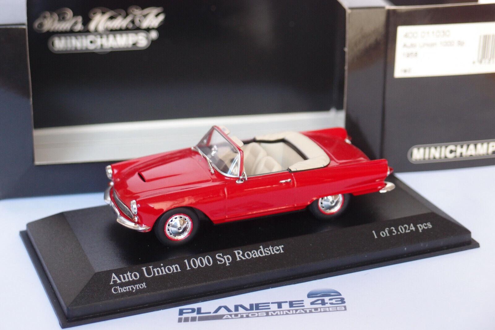MINICHAMPS AUTO UNION 1000 SP ROADSTER 1958 rouge 400011030 1 43