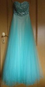 Kleid Abiballkleid Hochzeit Abendkleid Lang Turkis Gr 34 Peek Cloppenburg Ebay