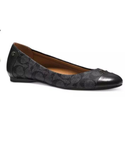 12ce798c2ae9 ... wholesale coach chelsea flats shoes black smoke a7698 size 7.5m 2bef4  d50a5